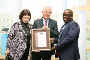 Eugene Herbert with his award